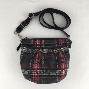 Coach Tartan Plaid Crossbody Shoulder Bag Small